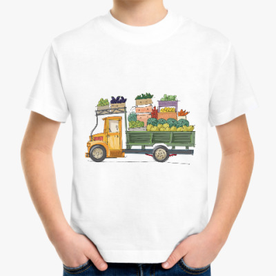 Детская футболка Грузовик с едой