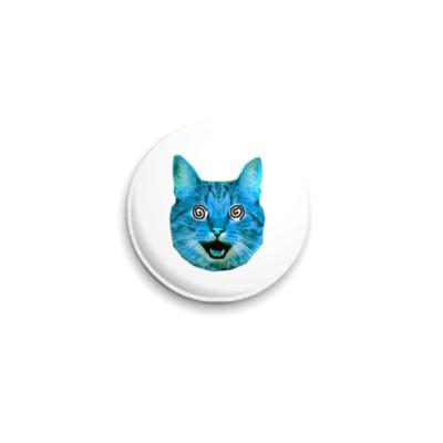 Значок 25мм  «Blue cat»