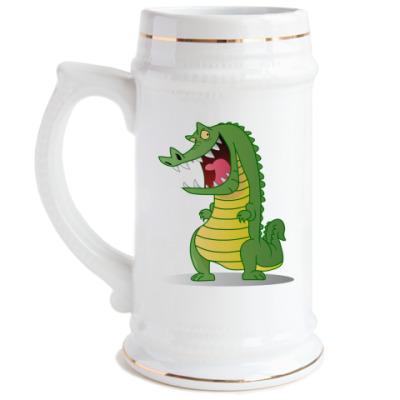 Пивная кружка Злобный крокодил
