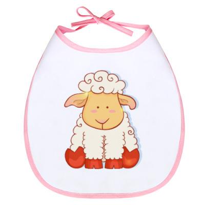 Слюнявчик овечка