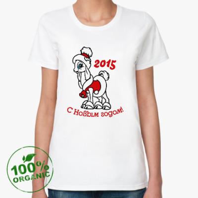 Женская футболка из органик-хлопка Год козы и овцы 2015
