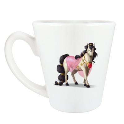 Чашка Латте Королевская лошадь
