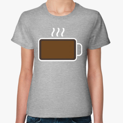 Женская футболка Кофе