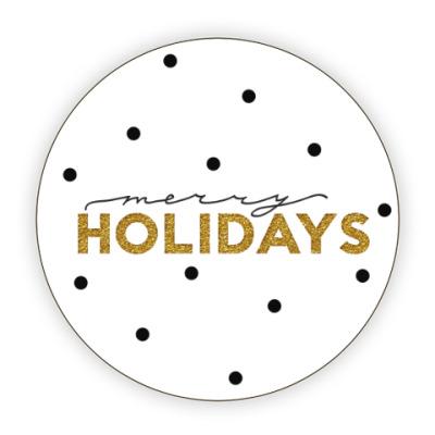 Костер (подставка под кружку) Merry holidays