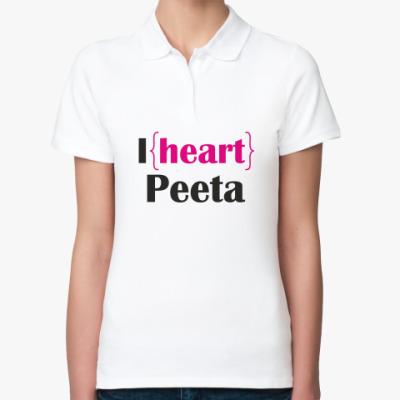 Женская рубашка поло Я люблю Пита