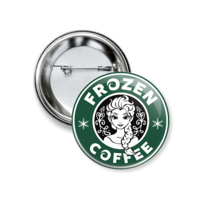 Значок 37мм Frozen coffee