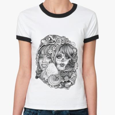 Женская футболка Ringer-T Two Ways
