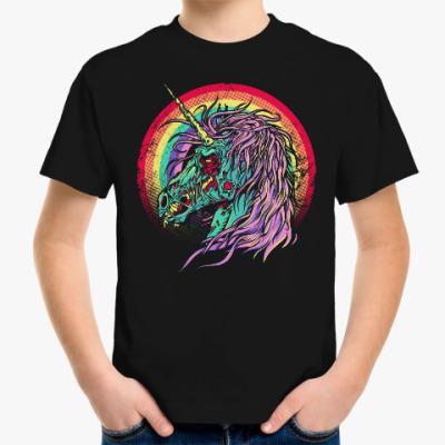 Детская футболка Зомби единорог
