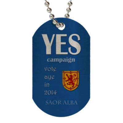 Жетон dog-tag YES campaign