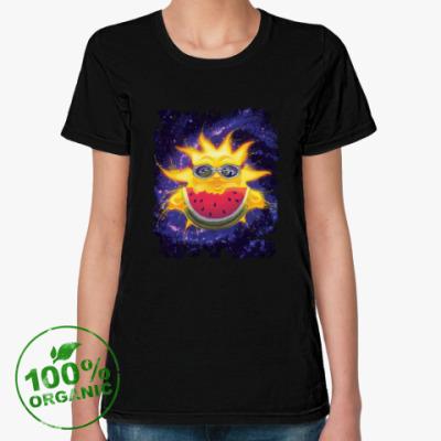 Женская футболка из органик-хлопка Солнечный арбуз