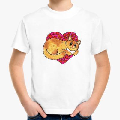 Детская футболка Весна в сердце