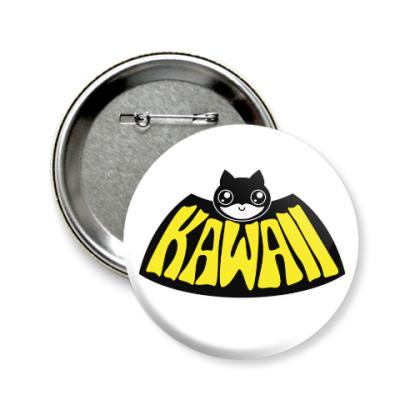 Значок 58мм Kawaii Batman