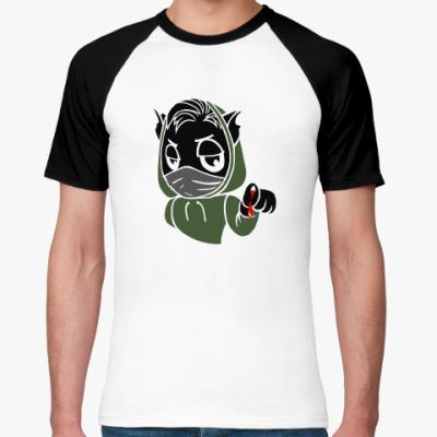 Футболка реглан Черный кот ассасин