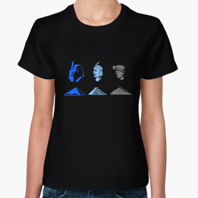 Женская футболка Эволюция шахтера