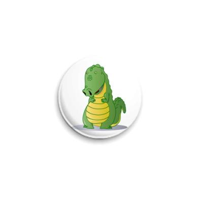 Значок 25мм крокодильчик