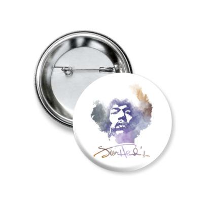 Значок 37мм  Jimi Hendrix - Джими Хендрикс