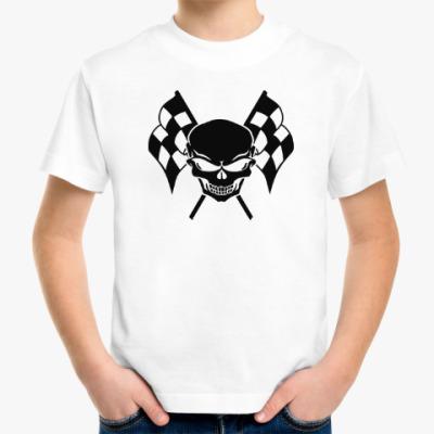 Детская футболка Череп и флаги