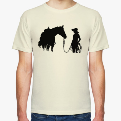 Футболка Девушка и лошадь