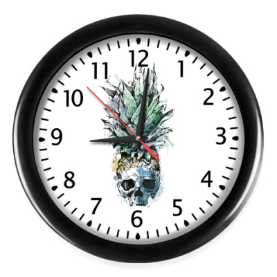Настенные часы Череп