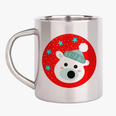 Кружка металлическая Полярный медведь