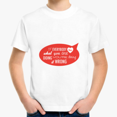 Детская футболка 'Wrong'