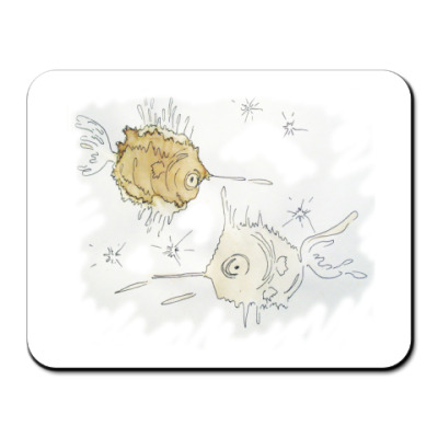 Коврик для мыши Космические рыбы