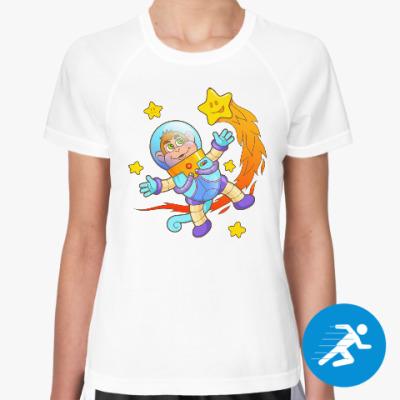 Женская спортивная футболка Астронавт