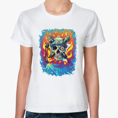 Классическая футболка Music Skull