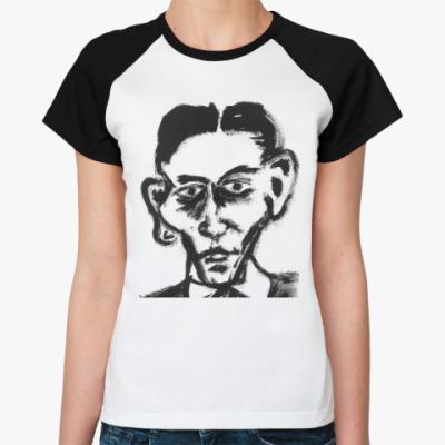 Женская футболка реглан Франц Кафка