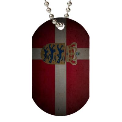 Жетон dog-tag Датский флаг