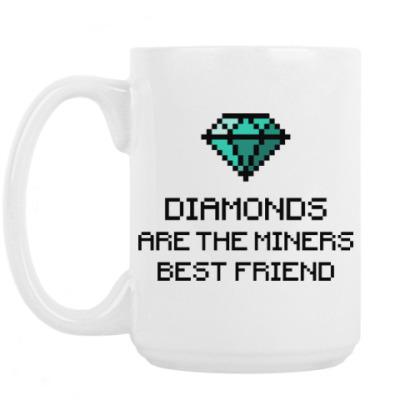 Кружка Minecraft - diamonds