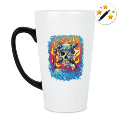 Кружка-хамелеон Music Skull