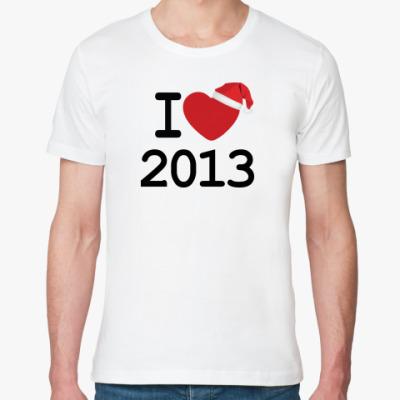 Футболка из органик-хлопка Новогодний принт I Love 2013