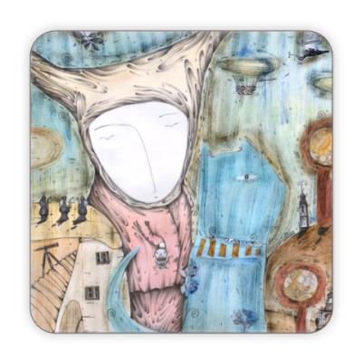Костер (подставка под кружку) Подставка под кружку Синий кот