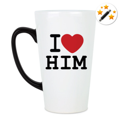 Кружка-хамелеон Романтичный принт I LOVE HIM