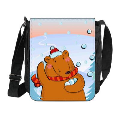 Сумка на плечо (мини-планшет) Медведь