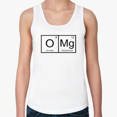 Женская майка OMG-химия