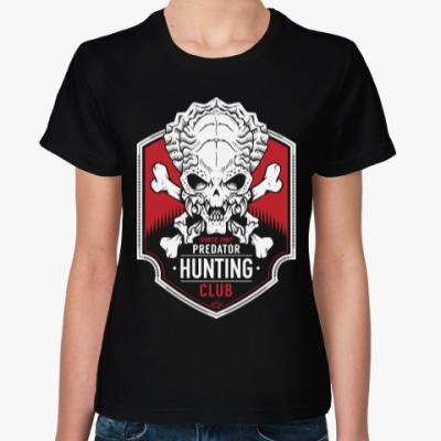Женская футболка Хищник