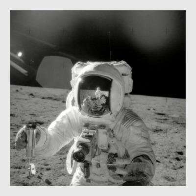 Постер Астронавт Аполлона-12 на Луне