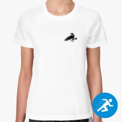 Женская спортивная футболка raven