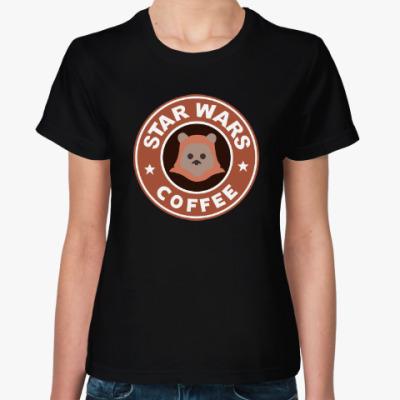Женская футболка Star Wars VII coffee