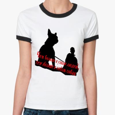 Женская футболка Ringer-T любовь к собакам