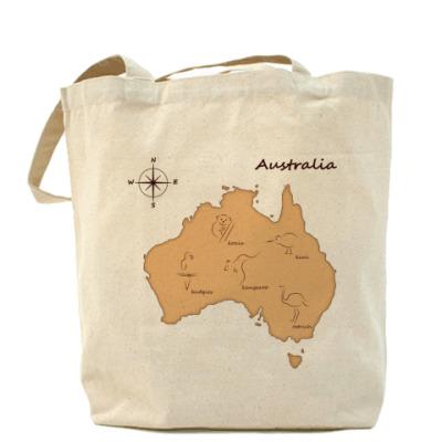 Сумка  Australia map