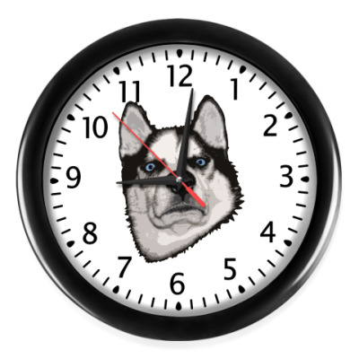 Настенные часы Суровый Хаски