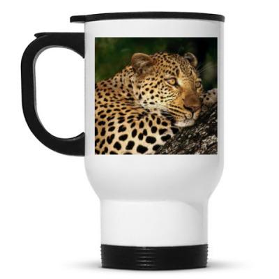 Кружка-термос Мечтательный леопард