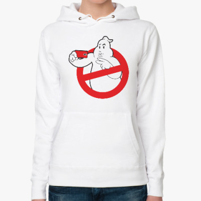 Женская толстовка худи Ghost Busters Selfie