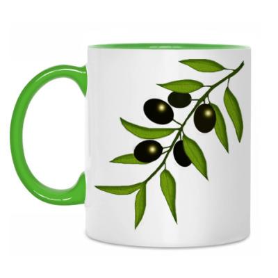 Кружка Ветка с маслинами