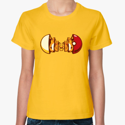 Женская футболка Покетрешка
