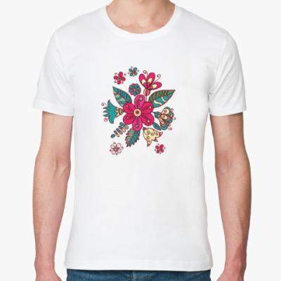 Футболка из органик-хлопка Цветы