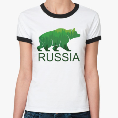 Женская футболка Ringer-T Россия, Russia